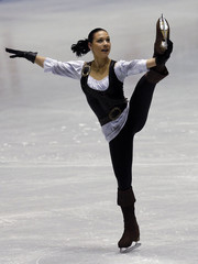 Leonova of Russia performs during the women's short programme at the ISU Grand Prix of Figure Skating in Tokyo