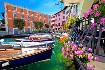 Limone sul Garda turquoise waterfront view Wall mural