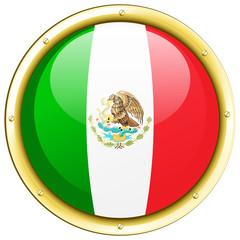 Flag of Mexico on round frame