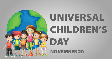 Poster design for Universal children's day
