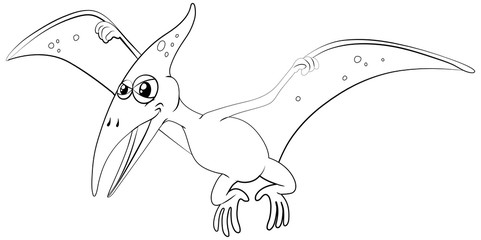 Outline animal for pterosaur