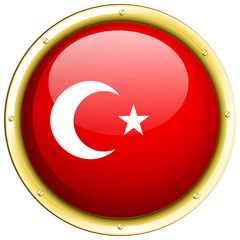 Badge design for flag of Turkey