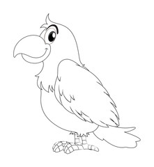 Animal doodle for parrot bird