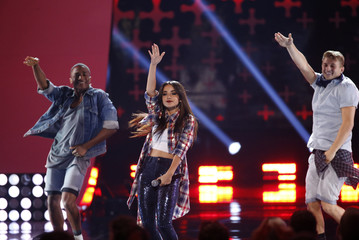 Becky G performs during the Teen Choice Awards 2014 in Los Angeles
