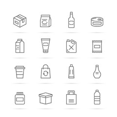 product package vector line icons