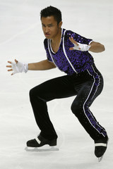 Amodio of France performs during the men's free skating competition at the ISU World Figure Skating Championships in Moscow