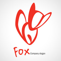 Logo with orange fox