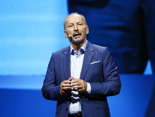 """Peter Moore, COO of Electronic Arts, introduces the new video game """"Star Wars Battlefront""""  during Electronic Arts media briefing in Los Angeles"""