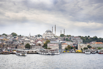 View from the Golden Horn on the historical center of Istanbul