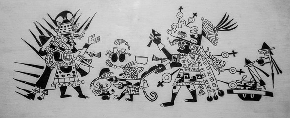 ancient Mayan painting