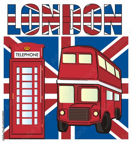 London, England, UK, Britain, Travel, Symbol, Cartoon, Illustration,