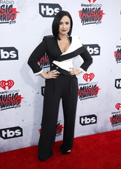Singer Demi Lovato poses at the 2016 iHeartRadio Music Awards in Inglewood