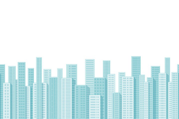 Seamless cartoon city background