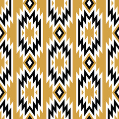 Vector trendy seamless decorative ethnic pattern. Boho geometric style.