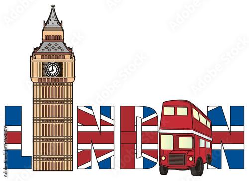 """London, England, UK, Britain, travel, symbol, cartoon ..."