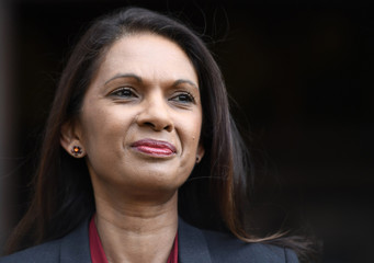 Investment manager Gina Miller leaves the High Court during a break in her legal challenge to prevent Britain's Prime Minister Theresa May's from triggering the United Kingdom's exit of the EU without Parliament's consent, in London
