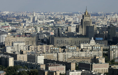 A general view of Russia's Ministry of Foreign Affairs is seen in Moscow