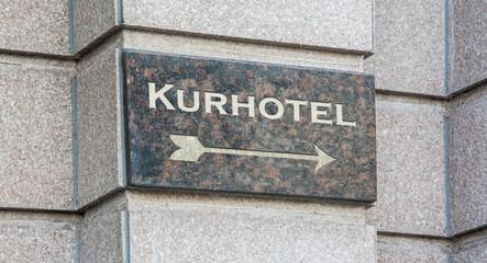 Schild 204 - Kurhotel