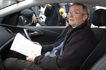 Former French lawyer Agnelet, who was sentenced to 20 years in prison in 2007, leaves the prison of Mauzac