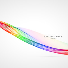 awesome colorful wave background design