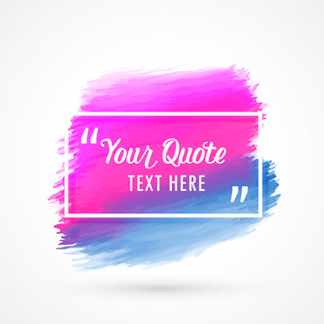 pink and blue watercolor stain with space for your text or quotation