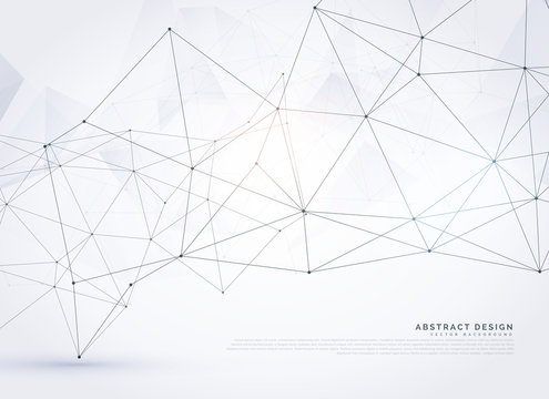 abstract digital wireframe poly mesh background design