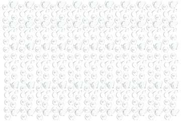 A pattern of strawberries and cranberries on a white background. Vector illustration