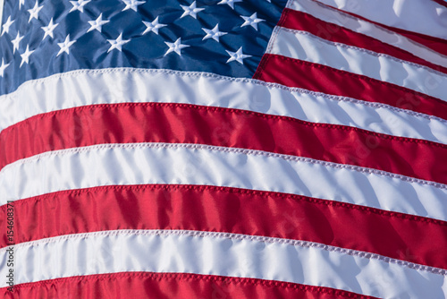 f664a809fac8 Close-up American Flag flowing