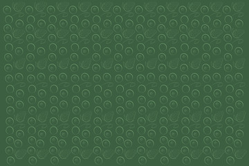 A pattern of strawberries and cranberries on a green background. Vector illustration
