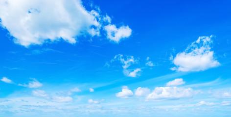 small cumulus clouds in spring