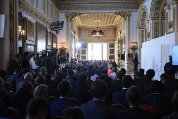 """Britain's Prime Minister Theresa May delivers her keynote """"Brexit speech"""" in Lancaster House in London"""
