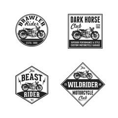 Vintage Retro Classic Old Motorcycle Logo Badge Label