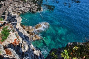Вид на воды Адриатического моря. Черногория.