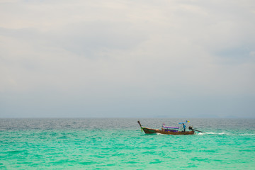 Fischerboat over the blue