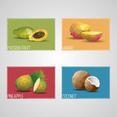 Tropical Organic Fruits Cards