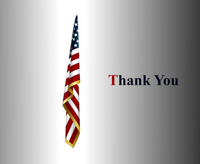 thank you card with american flag