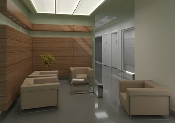 3d illustration modern office conference room