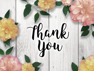 Thank You Card with Flower Border