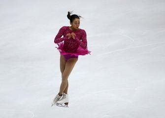 Mao Asada of team Japan performs during the ladies' singles short program during China ISU Grand Prix of Figure Skating , in Beijing