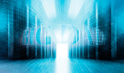 big data concept with binary code background servenay room modern data center