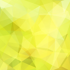 Background made of yellow triangles. Square composition with geometric shapes. Eps 10