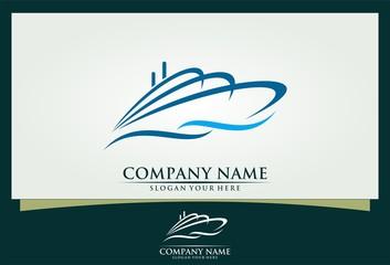 ship vector logo