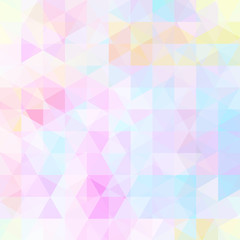 Background of pink, white geometric shapes. Abstract triangle geometrical background. Mosaic pattern. Vector EPS 10. Vector illustration