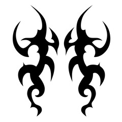 Tattoo/Tattoo tribal vector design. Simple tattoo tribal logo. Tattoo tribal design for men, woman and girl. Abstract tribal tattoo pattern.