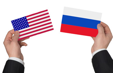 Flag of the USA and Russia