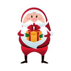 cute christmas santa claus happy celebration cartoon vector illustration