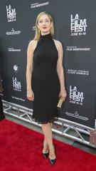 "Cast member Greer poses at the Los Angeles Film Festival opening night premiere of ""Grandma"" in Los Angeles"