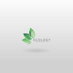 Eco logo. Polygonal ecology logo