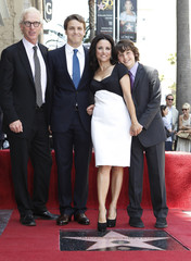 Actress Julia Louis-Dreyfus during ceremonies unveiling her star on the Hollywood Walk of Fame in Hollywood