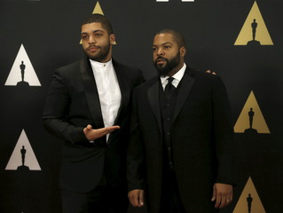 Ice Cube and his son Jackson, Jr. pose at the 7th Annual Academy of Motion Picture Arts and Sciences Governors Awards at The Ray Dolby Ballroom in Hollywood